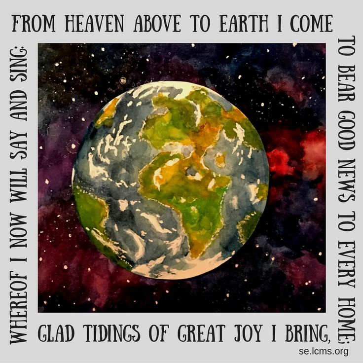 "Advent image for Ist Sunday in advent. Southeastern District Advent images for 2016 are from the hymn by Martin Luther ""From Heaven Above to Earth I Come"""