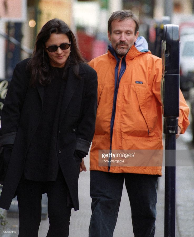 Robin Williams and wife Marcia sighting on January 5, 1994 in London, England.