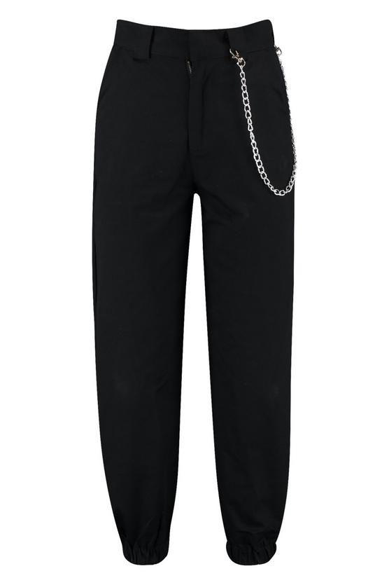 Chain Trim Cargo Trousers | Boohoo