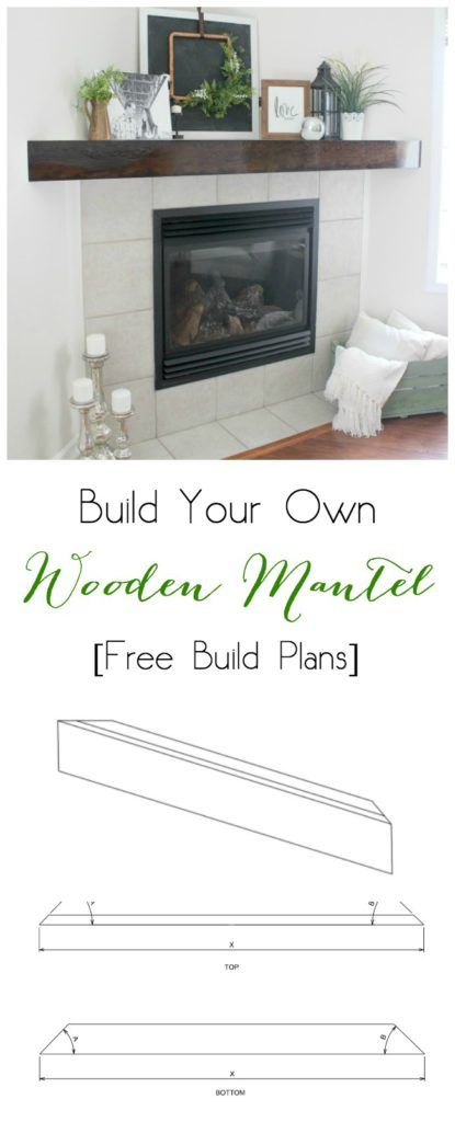 Great FREE plans for building your own wood mantel! For a corner or straight mantel. Love the chunky, rustic look!