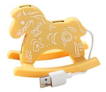 Creative Yellow Cloud USB HUB High-Speed USB 2.0 4-Port USB Hub with 10cm cable