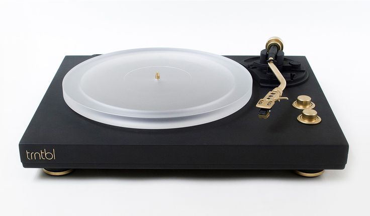 The wireless Trntbl Turntable can identify what you're spinning, letting you share via social media or Spotify. It can also stream audio to Sonos, AirPlay, and Bluetooth speakers. The turntable itself comes in matte black or soft creme, with a minimal design that uses high-quality components, including gold-finished buttons, tonearm, and counterweight and a frosted acrylic platter.