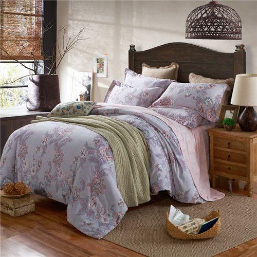 O estilo Nórdico Conjunto de Cama 4 pcs Capa de Edredão set rei/super king size conjunto de cama impresso folha de roupa de cama roupas de cama Fronha cama em Conjuntos de cama de Home & Garden no AliExpress.com | Alibaba Group