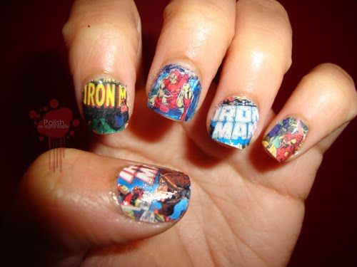 Fabulous Iron Man Inspired Nails for Emma