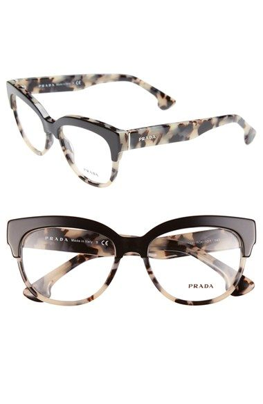 prada 53mm optical glasses