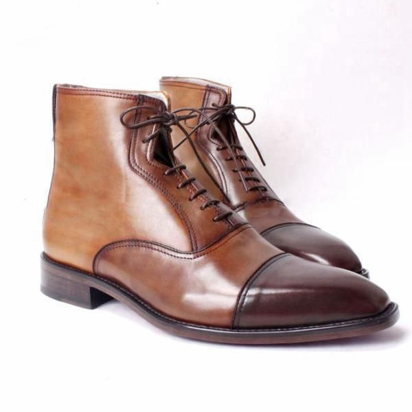 Run your Elegance 365 days a year! Elegance is a mindset Gentleman - Deluxe Brown Ankle Boots for Men - Runit365 your Elegant Men Store  #tie #leather #boots #classy #deluxe