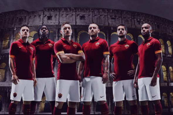 AS Roma and Nike unveil first home kit in new partnership