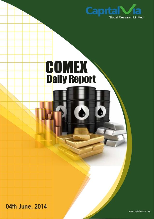 COMEX SIGNALS : Daily Technical Analysis Report by Alex Gray via slideshare