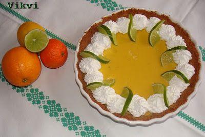 Zöld citromkrémes (lime) pite kókuszos alapon - No. 39