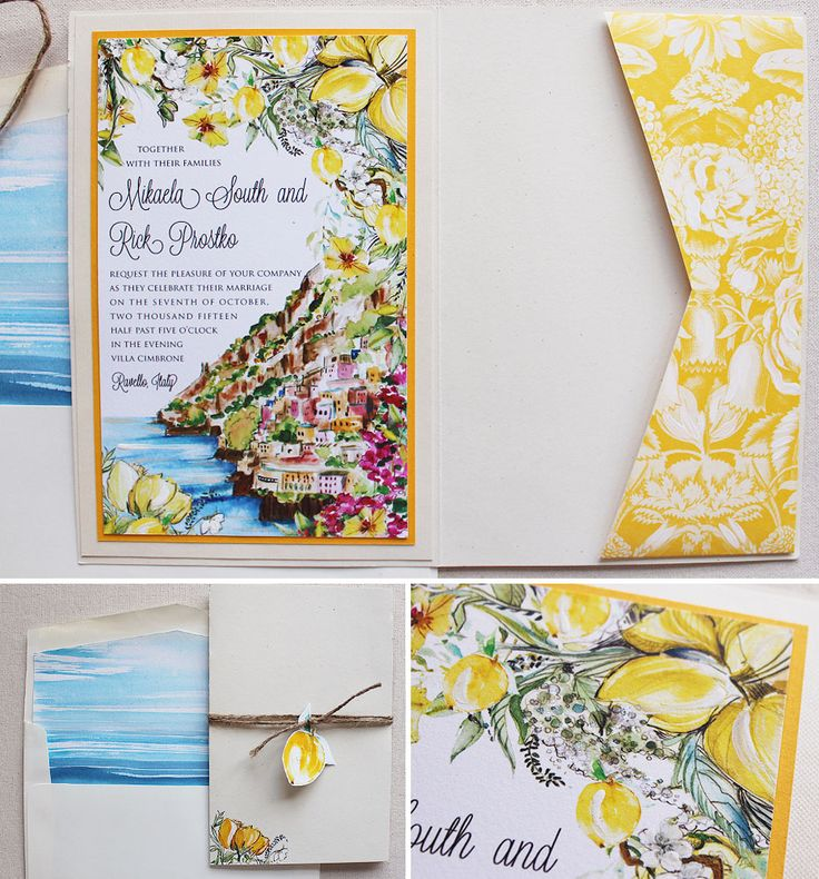 17 Best Images About Amalfi Invitation Inspiration On