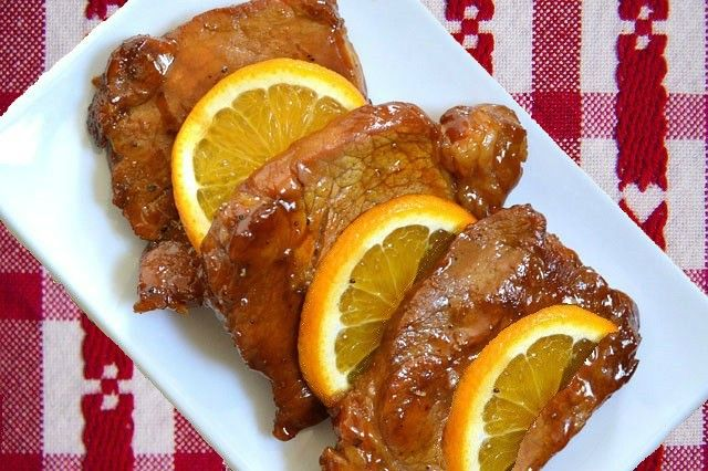Try this #pork with orange #recipe for your #Christmasdinner #christmasrecipes
