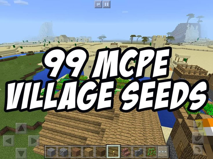 99 New Minecraft PE Village Seeds! For Minecraft PE 0.14, 0.15, 0.16 and higher!