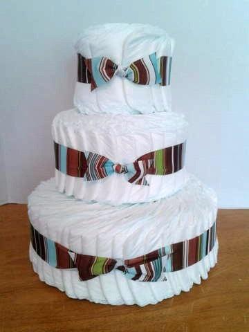 Basic Diaper Cake Baby Shower Centerpiece Boy Girl By 2CuteDesignsLS, $60.00
