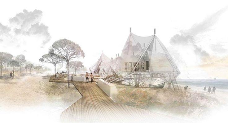 Hospedería en Fonte de Telha. 3 Premiado I Concurso PFC Arquitectura y Empresa                                                                                                                                                                                 Más