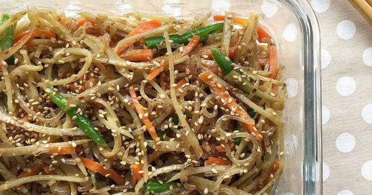 作り置きシリーズ! おかずのようなサラダのようなお惣菜です。食物繊維たっぷりでお腹に嬉しい。