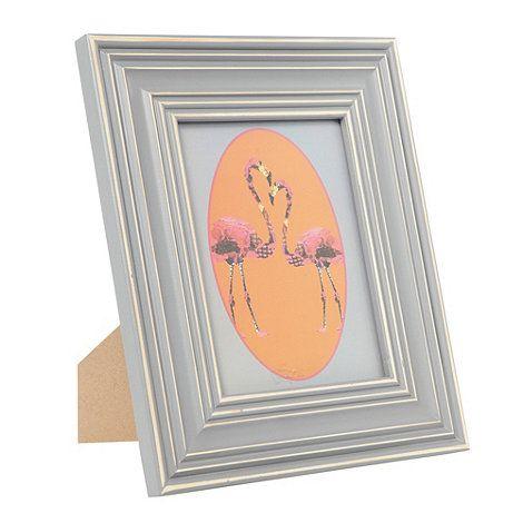 Abigail Ahern/EDITION Designer grey wooden ridged 6 x 8 inch photo frame- at Debenhams.com