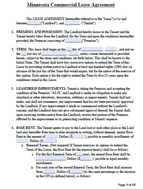 Free Commercial Lease Agreement Template cakepins.com