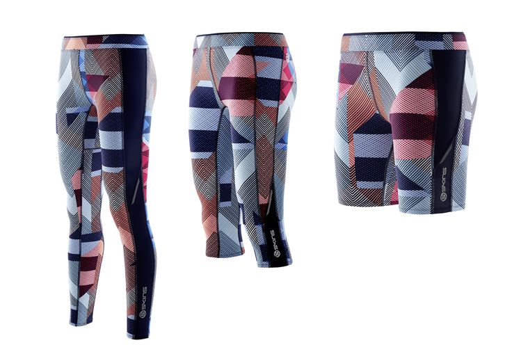 """Check out the style and colours in this new SKINS range... you could work almost any coloured top with these like navy, red, white, grey, black, baby blue...""""  SKINS A200 This Way Up Full tights RRP $169 ¾ tights RRP $165 Shorts RRP $89"""
