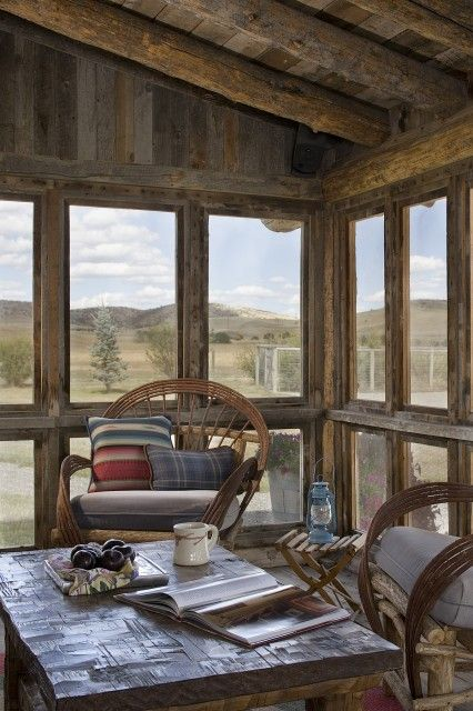 17 best images about sunrooms and screen porches on for Log home sunrooms