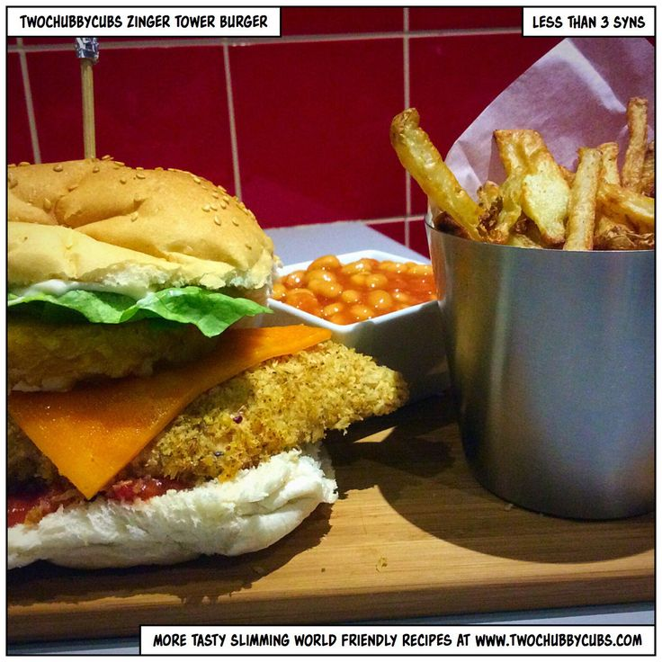 This Slimming World version of KFC's zinger tower burger includes breaded chicken, lettuce, salsa, a hash brown and...aaah it's just wonderful! Remember, at www.twochubbycubs.com we post a new Slimming World recipe nearly every day. Our aim is good food, low in syns and served with enough laughs to make this dieting business worthwhile. Please share our recipes far and wide! We've also got a facebook group at www.facebook.com/twochubbycubs - enjoy!