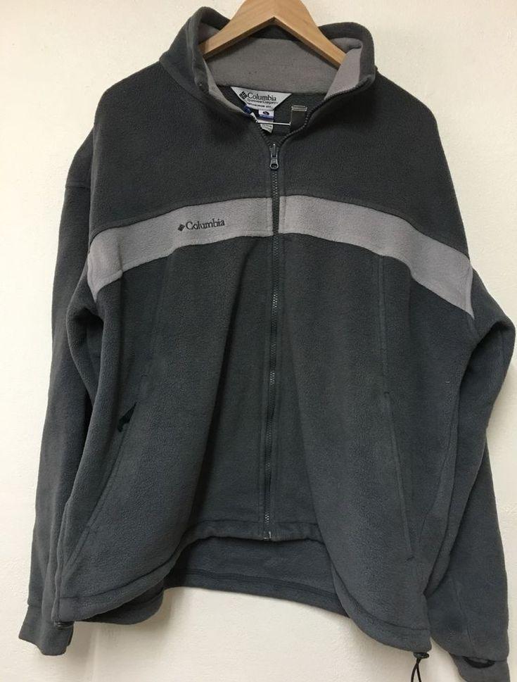 Columbia Sportswear Brown Fleece Jacket Mens XL Warm Lined Toggle Elastic Waist #Columbia #FleeceJacket