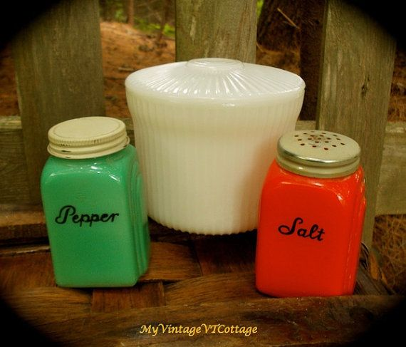 Vintage Breakstone Milk Glass Jar - Cottage Cheese Milkglass Jar - Refrigerator Jar