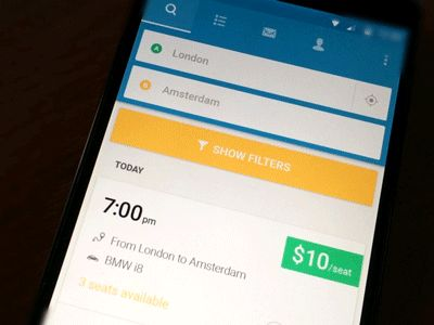 BlaBlaCar redesign concept Pixate Prototype
