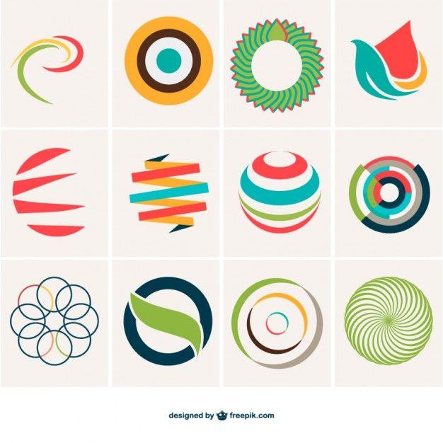 抽象球のロゴテンプレート 無料ベクター