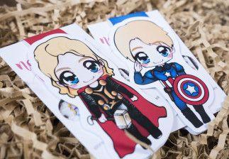 Fangirlalarm: Inhalt der Marvel-Box von Avas Box – Lesezeichen Thor und Captain America
