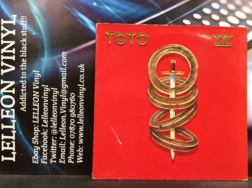 Toto IV LP Album Vinyl Record CBS85529 A1/B1 Pop 80's 'Africa' Music:Records:Albums/ LPs:Pop:1980s