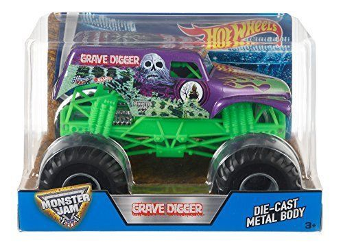 #transformer hot wheels monster jam grave digger truck, purple new
