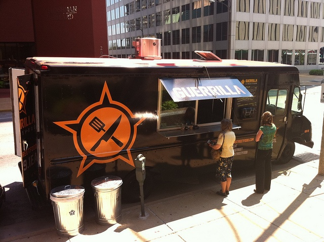 The Guerrilla Food Truck is an Old- and new-world Filipino.  Be sure to try the asado-glazed pork-loin sandwich it's outstanding.  Twitter: @guerrillastreet