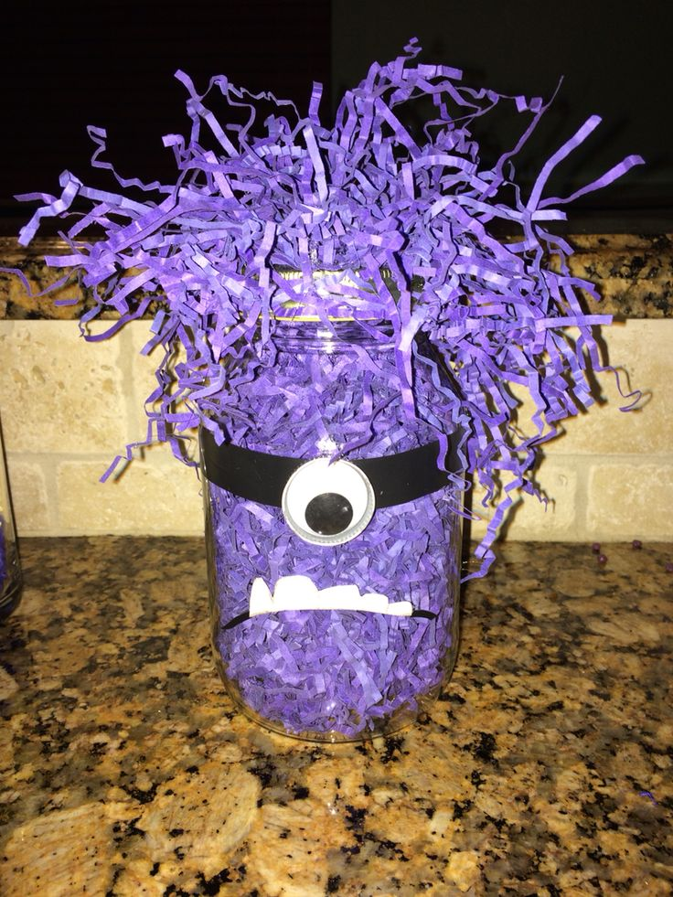 Homemade evil minion decoration
