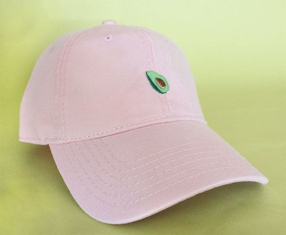 NEW Avocado Baseball Hat Dad Hat Low Profile White by BrainDazed