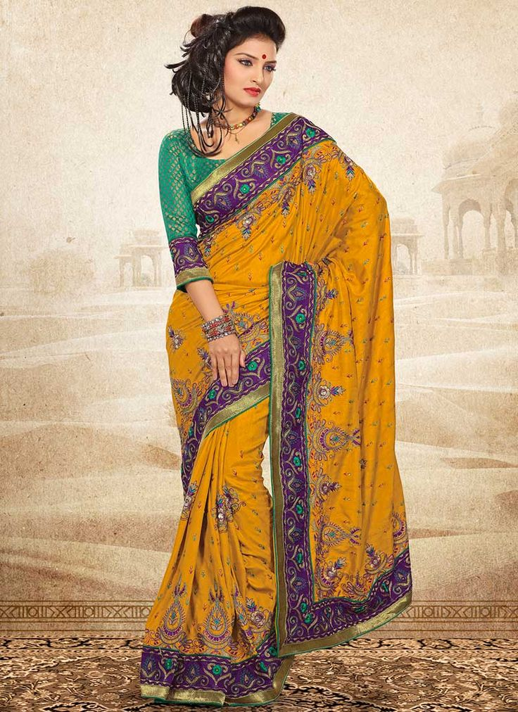 Buy Pretty Manipuri silk saree online from the wide collection of Sari. This Mustard Saree in Silk goes well with any occasion. Shop online for Wide range of silk sarees, cotton sarees, wedding saris  &  more at Cbazaar.com