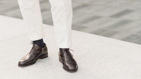 Scarpe Uomo: scopri l'intera collezione di scarpe da uomo firmate Velasca. Dalle scarpe eleganti per l'uomo di classe, alle scarpe da sposo, scarpe da sera, o scarpe da cerimonia, in questa pagina potrai vederle tutte e trovare il paio giusto per te.