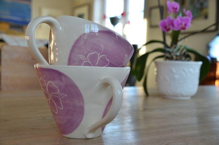 lilla tekopp nyperosedekor ingridk keramikk
