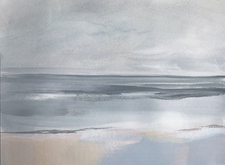 Grey Sea By Megan Elizabeth Of Art By Megan Www Artbymegan Com