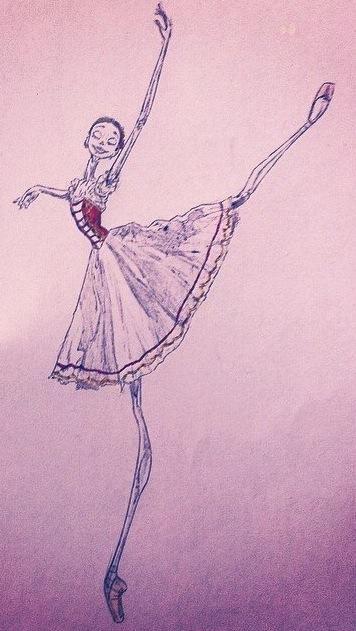 Barbara Zorzato draws Beth Brockett Prix de Lussaunne 2014, variation from Copellia