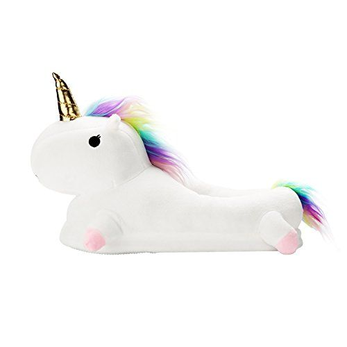 Adulte Unisexe Licorne Slippers Pantoufle – Chausson Unicorne Souple en Peluche – Chaussure Animal Figure Chaud 4 Couleurs: Chaussons…