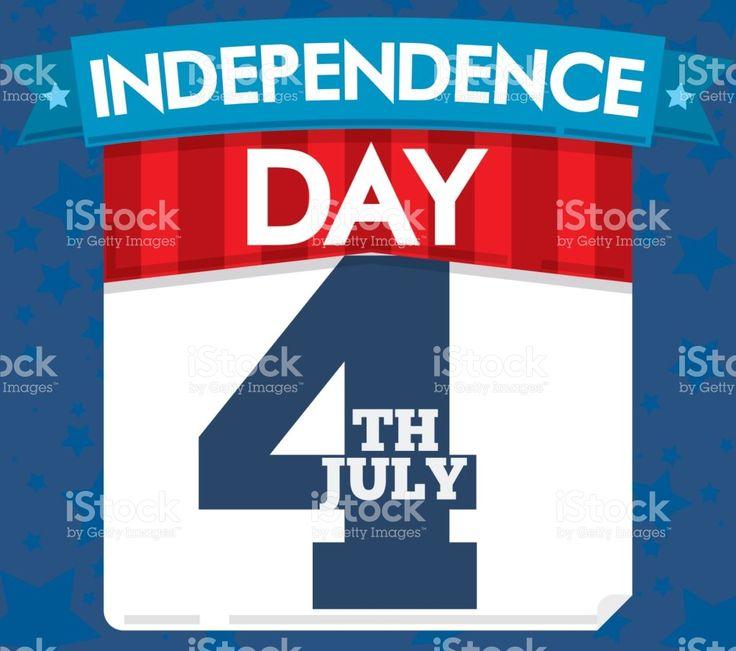 Patriotic Loose-leaf Calendar with Ribbon for U.S.A. Independence Day Celebration