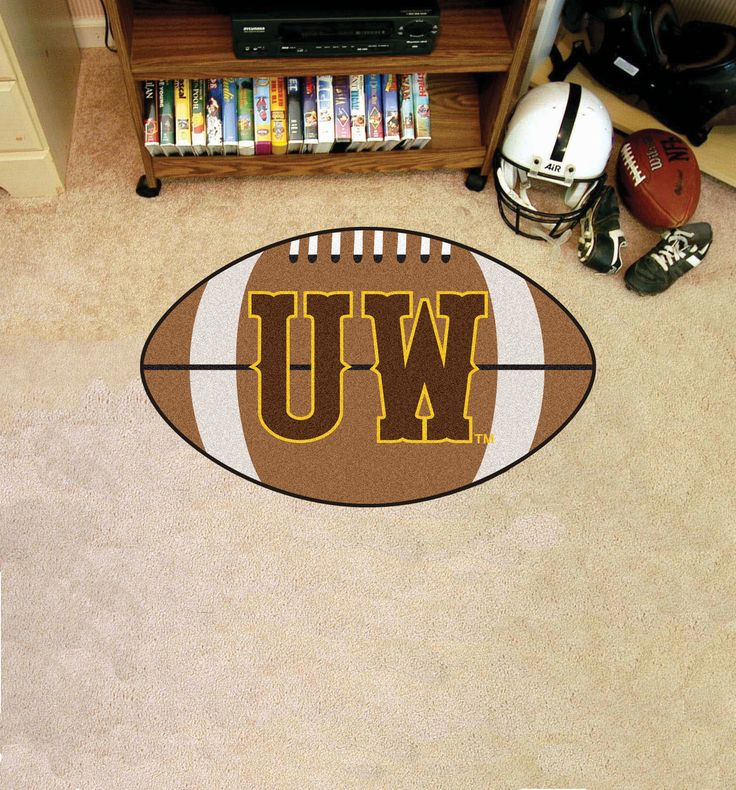 Collegiate University of Wyoming Football Area Rug