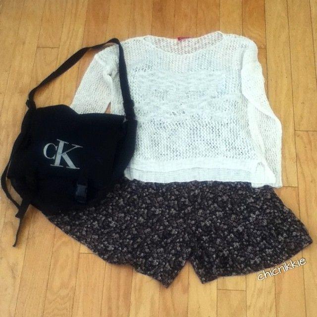 Crochet Top- Fashion Q Floral romper- hand-me-down