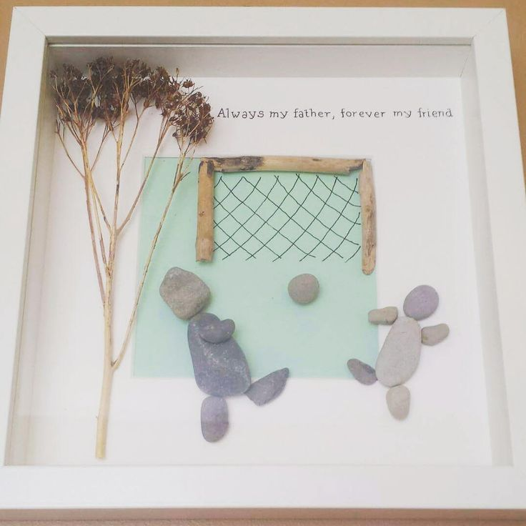 Fathers Day Gift, Step dad gift, Football gift, Pebble art picture, football dad, gift from son, dad frame, personalized dad gift, daddy by CoastalPebblesShop on Etsy