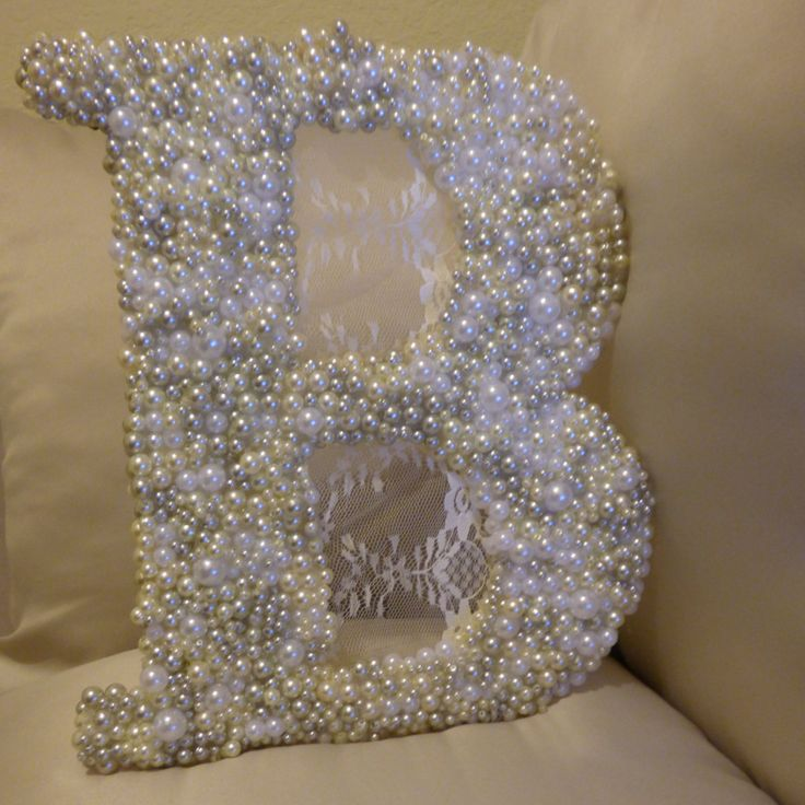Monogram Pearl Letters by TheSassyDoor on Etsy