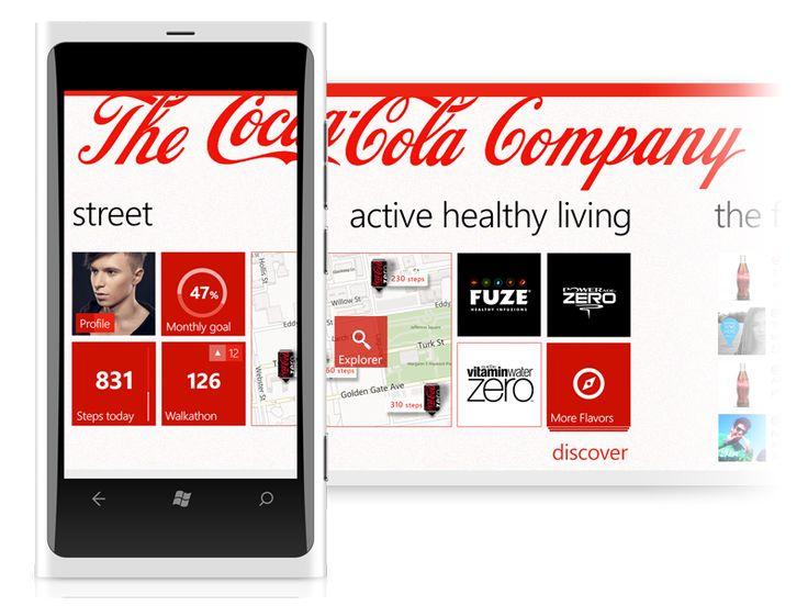 Ideas for Coca-Cola App for the Windows platform |#ui