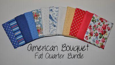 12 Fat Quarters of American Bouquet