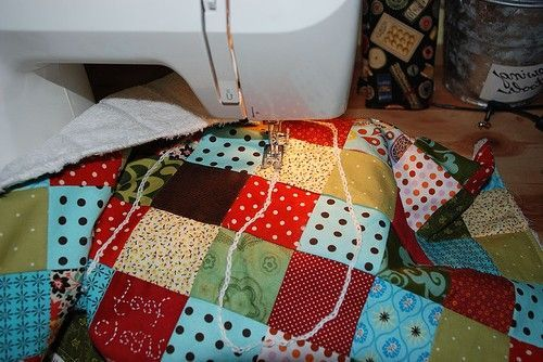 quilt na colcha para unir os tecidos