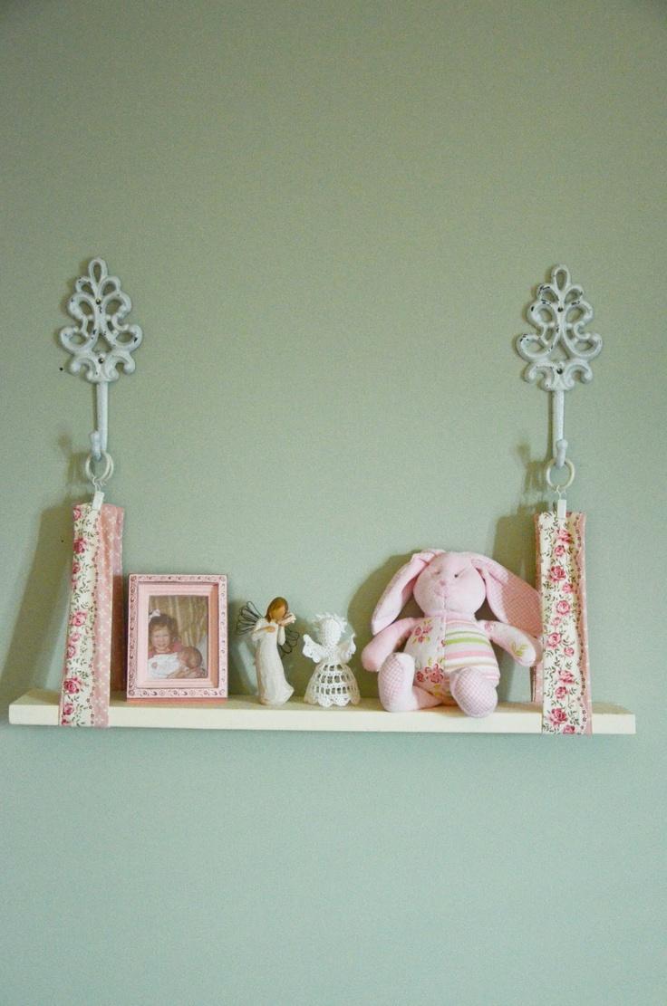 DIY shelf for the girls room