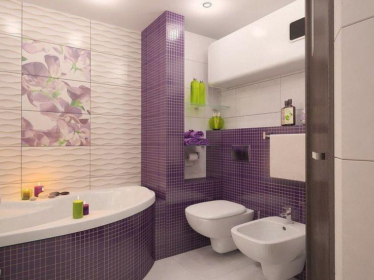 1000 id es propos de tablier de baignoire sur pinterest for Carrelage mural salle de bain violet